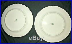 Bohemia Czechoslovakia Floral Gold Lace 101/2 6 Vintage Dinner Plates
