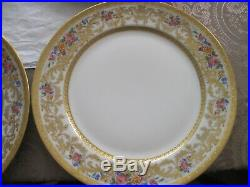 C. Ahrenfeldt Limoges 6 Dinner Plates R. H. Stearns & Co. Boston Heavy Gilded