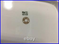 C1887 H&Co DEPOSE Haviland France 17 Cobalt/Gold SCENIC FLORAL & SKY PLATTER
