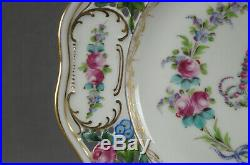 Carl Thieme Dresden Marie Antoinette Floral Gold Reticulated 10 1/2 Dinner Plate