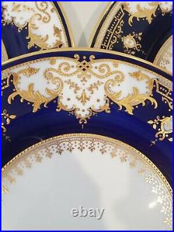 Copeland Spode English Cobalt Blue & Gold Gilt 10 1/2 Dinner Plate