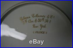 Gilman Collamore & Co France 12 Gorgeous Gold Enamel China Cabinet Dinner Plates