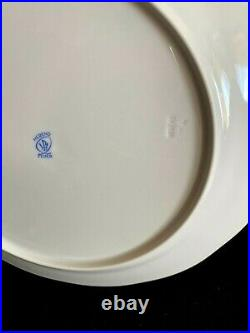 HEREND PORCELAIN GOLD PLATTED DINNER AND SOUP PLATES (12pcs.) HDE #