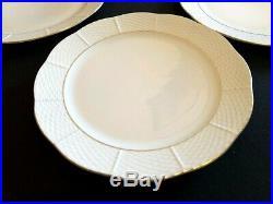 HEREND PORCELAIN GOLD PLATTED DINNER PLATE 524 (6 pcs.)