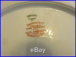 Haviland Limoges Marquis Gold Rim Verge Dinner Plates 9-3/4 Lot (12)