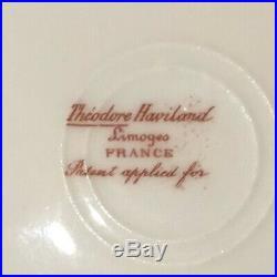 Haviland Limoges Schleiger 340 Double Gold Roses 4 Dinner Plates 8 3/4 Width L1