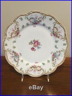 Haviland Limoges Schleiger 72 Double Gold Floral Dinner Plate Set of 4 (A)
