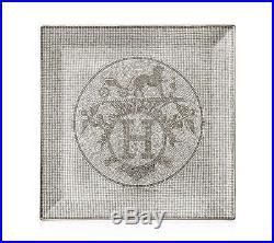 Hermes Mosaique au 24 platinum Square plate n°5, platinum, 9.1 x 9.1
