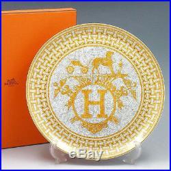 Hermes Porcelain Big Dinner Plate Mosaique Au 24 Tableware Ornament Interior New