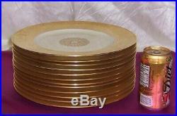 K&A Krautheim Selb Bavaria Germany 12 Heavy Gold Encrusted Dinner Plates