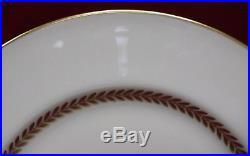 LENOX china IMPERIAL P338 pattern Set of 8 Dinner Plates 10-1/2