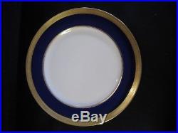 Lenox Ovington China (8) J19k Cobalt Blue & Gold Encrusted Dinner Plates C 1912