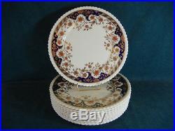 Lenox Set of 10 Dinner Plates M337B Gold and Cobalt Made For Gumps San Francisco