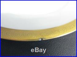 Limoges Haviland Du Barry Eight Gold Encrusted 26cm Dinner Plates Vgc