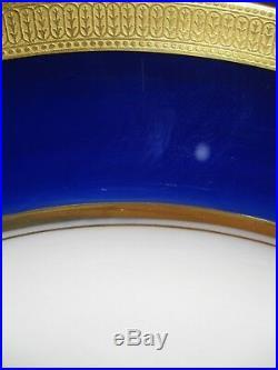 Lot Of 10 Lenox Ovington China J19k Cobalt Blue & Gold Encrusted Plates C1912