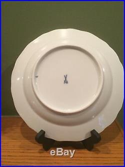 Meissen German Blue Court Dragon & Gold 10 Dinner Plate