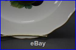Meissen German Hand Painted Fruit & Gold Scalloped 9 1/2 Dinner Plate (MSS108)