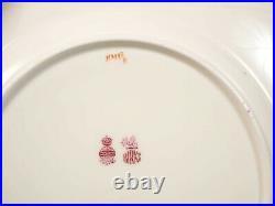 Minton H3998 Cobalt GOLD Encrusted DINNER Plate(s) Antique Hearts Rare Birks