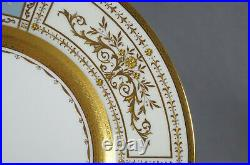 Minton Signed A Pointon Pate-Sur-Pate & Raised Gold Neoclassical 10 5/8 Plate