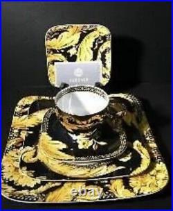 NEW Gorgeous VERSACE VANITY Gold Square 5pc set