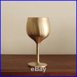 NotdamKorea Handmade Brassware Bangjja Yugi Blanc Wine Glass 2P/Yoons Kitchen