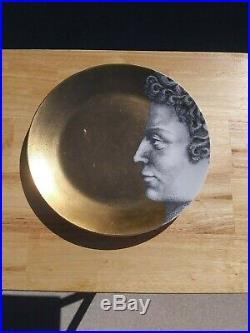 Piero Fornasetti Adam 9 Dinner Plates 10 Gold