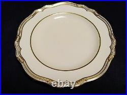 RARE Copeland Spode for TIFFANY & CO. Of New York 12 Ivory & Gold Dinner Plates