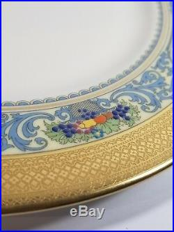 RARE Lenox Autumn Charger Wide Gold Band Dinner Plate 10 1/2