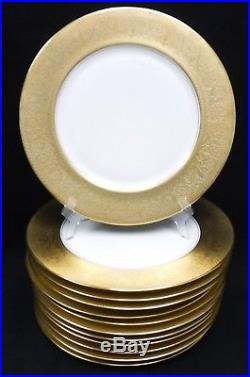 ROSEDALE USA china GOLD ENCRUSTED Rim Service Dinner Plate -Set of 12 11