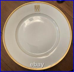 Rosenthal China Selb Bavaria 7 10 Dinner Plates Gold Rim Initial W
