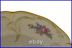 Rosenthal Diplomat Ivory Sanssouci Rose Gold Trim Floral 10 Dinner Plate