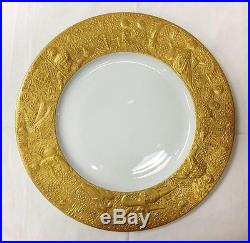 Rosenthal Magic Flute Sarastro Gold Dinner Plate 11 1/4bjorn Wiinblad Germany