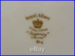 Royal Albert Regency 40 Piece 8 Place Settings Dinner Salad Bread Plate Gold Rim