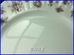 Royal Albert Sweet Violets Dinner Plates Set of 6 Purple Gold