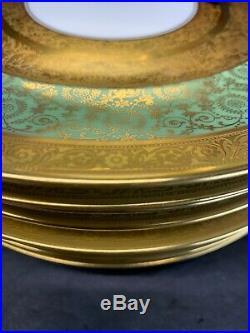 Royal Bavarian Hutschenreuther John Wanamaker Gold Trim Dinner Plates Set Of 10