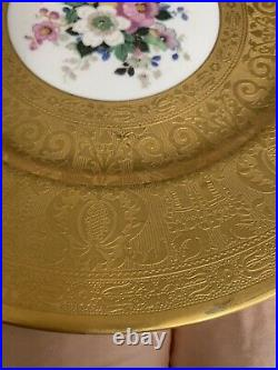 Royal Bavarian Hutschenreuther Selb Bavaria 10 3/4 Gold Encrusted Dinner Plate