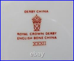 Royal Crown Derby Gold Aves Dinner, Salad & Bread Plate 3 Piece Place Setting