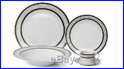 Royalty Porcelain 20-pc 15369G-20 Dinner Set for 4, 24K Gold