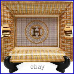 Royalty Porcelain 44-pc Dinner Set, Mosaic, 24K Gold Plated Bone China Porcelain
