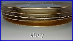 SIX (6) Royal Bavarian Hutschenruther Selb 10 3/4 22K Gold Band Dinner Plates