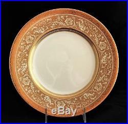 Set 12 Minton Bone China Gold Encrusted Porcelain Ball Dinner Plates H5161