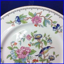 Set Of 4 Aynsley Pembroke Bone China 10.5 Dinner Plates (Gold Trim)