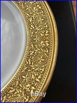 Set Of 6 Vintage Theodore Haviland Limoges Gold Encrusted Dinner Plate D 11