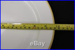 Set of 10 M. Redon 9 3/4 Dinner Plates PL Limoges White, Gold Trim RDN2 C. 1900