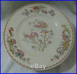 Set of 10 Syracuse China Old Ivory BOMBAY Gold Trim Large Dinner Plates 10-3/8