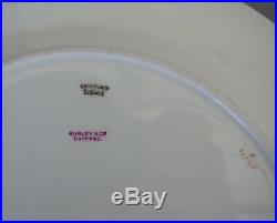 Set of 12 Twelve Cauldon Dinner Plates Gold Cobalt Blue Burley & Co Chicago 10