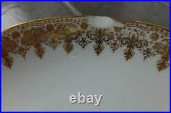 Set of 6- Antique G. D. A Limoges France gold gilt plate 8