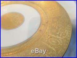 Set of Four T K Thun Bavaria 24Kt Gold Encrusted Dinner Plates