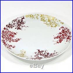 Studio Tord Boontje CHRISTMAS DAY 11 Dinner Plate Set 4Pc White Red Gold Target
