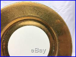 Stunning Superior Bavaria 22k GOLD Encrusted Dinner Plates Set of 11 SUB63